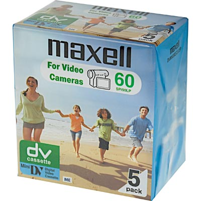 Maxell mini DV kassetter, 5-pack, 60 min SP/90 min LP