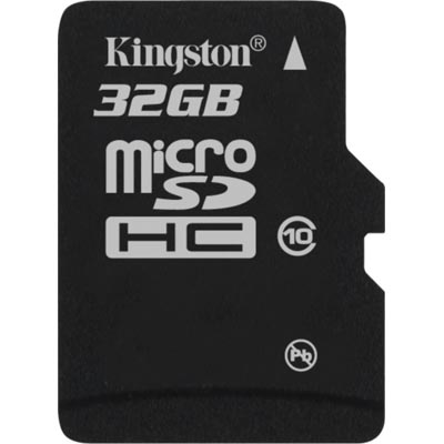 Kingston minneskort, microSDHC, Class 10