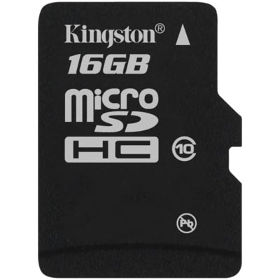 Kingston minneskort, microSDHC, 16GB,  Class 10
