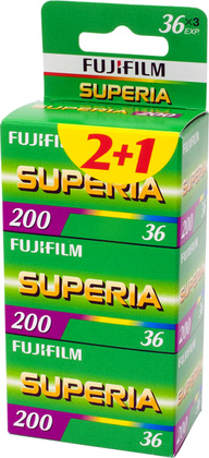 Fujifilm Superia 200 135/36 3-pack