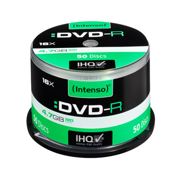 50 Intenso DVD-R 4,7GB 16x Speed, Cakebox
