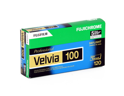 Fujifilm Velvia 100 120 New 5 pack