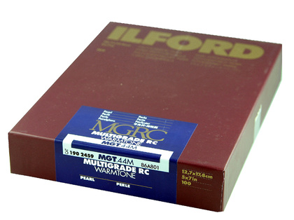 Fotopapper  ILFORD MG IV RC WARMTONE 44M PEARL  17,8X24,0 100 blad