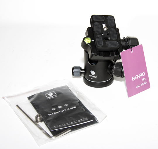 Kulled Benro B1 Ball Head + Quick Release Plate