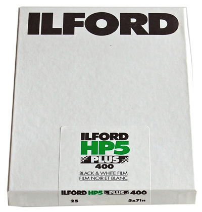 "Bladfilm Ilford HP5 Plus sheet film 12,7x18,5cm (5x7"")/25 blad"