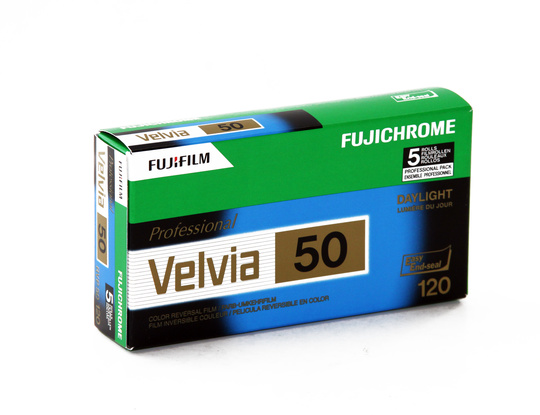 Fujifilm Velvia 50 120 New 5-pack