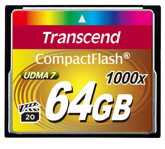 Minneskort Compact Flash TRANSCEND CF 1000X 64Gb