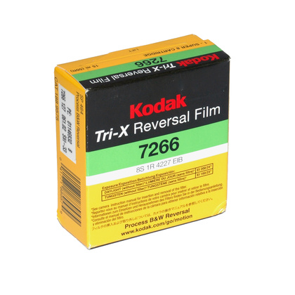Kodak Tri-X Reversal Film 7266 Super 8 Cartridge