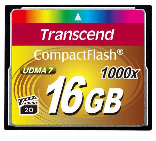 Minneskort Compact Flash TRANSCEND CF 1000X 16Gb