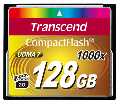 Minneskort Compact Flash TRANSCEND CF 1000X 128Gb