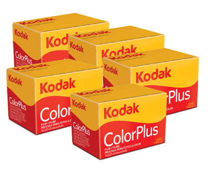 KODAK COLOR PLUS 200 24 exp 5 pack