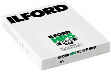 Bladfilm ILFORD HP5 plus 9X12 cm 25 blad