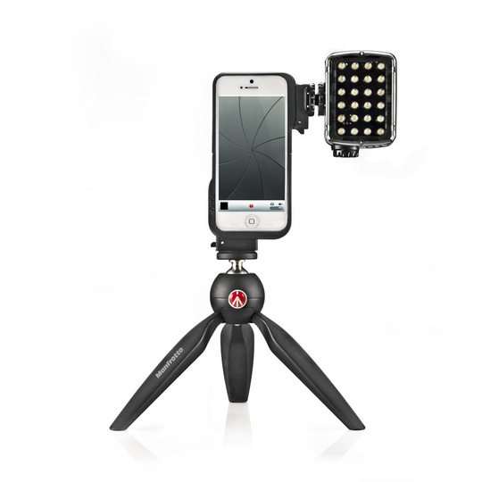 Manfrotto KLYP 5 med LED-belysning iPhone 5