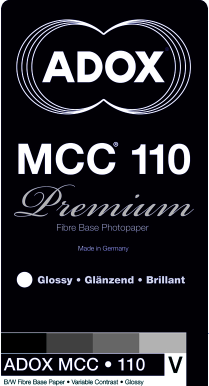 ADOX: MCC 110 - Natural Fibre Base Gloss - 18x24 / 100 Sheets - Gradation: Variable