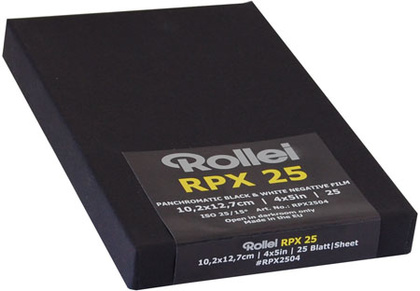"Rollei RPX 25 sheet film 10,2x12,7cm (4x5"")/25 sheet"