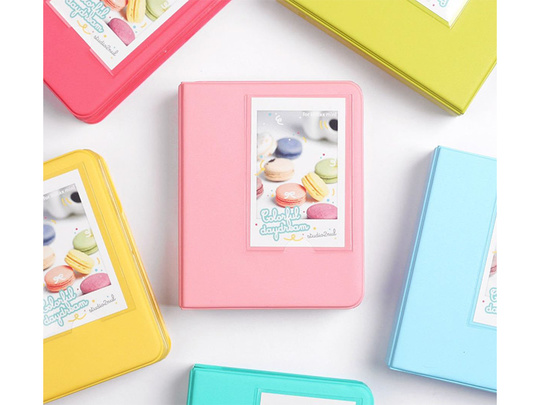 INSTAX MINI ALBUM ver.3 plus -  Indi Pink 64 bilder