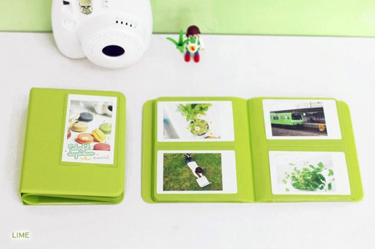 INSTAX MINI ALBUM ver.3 plus -  LIME 64 bilder