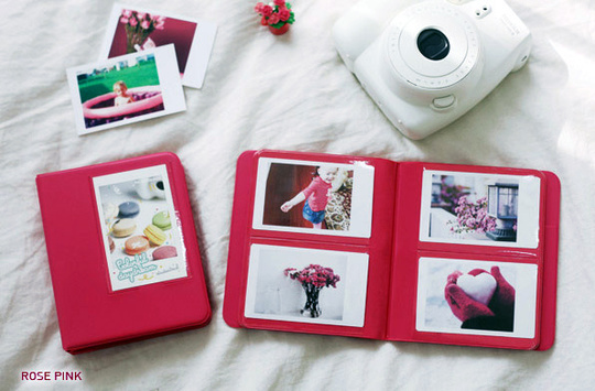 INSTAX MINI ALBUM ver.3 plus -  Rose Pink  64 bilder