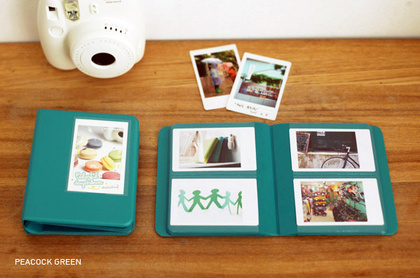 INSTAX MINI ALBUM ver.3 plus -  Peacock Green  64 bilder