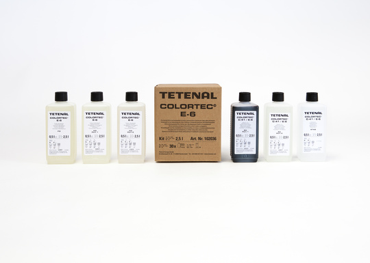 TETENAL Colortec E6 Kit For Tank Or Rotation - 3 Baths, For 30 Films