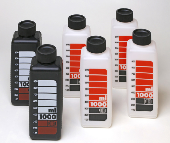 #3300 JOBO SKALED BOTTLES 1000ml (4xwhite/2xblack)