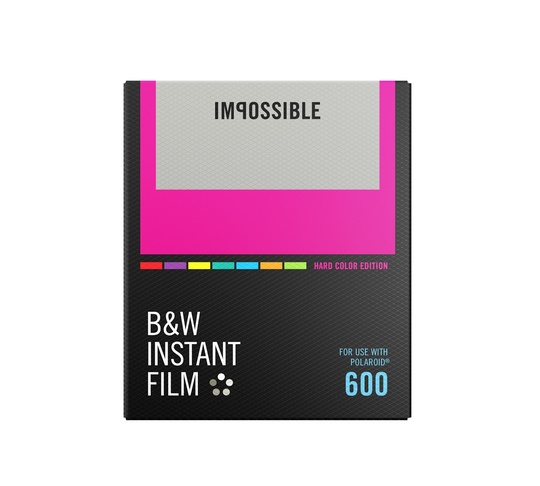 IMPOSSIBLE B&W FILM FOR 600 COLOUR FRAME
