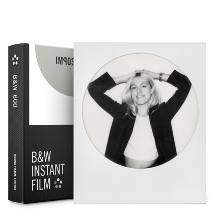 IMPOSSIBLE B&W FILM FOR 600 ROUND FRAME  3 pack