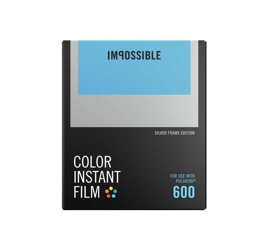 IMPOSSIBLE COLOR FILM FOR 600 SILVER FRAME