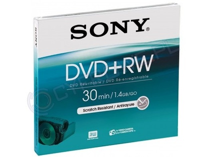 Sony DVD+RW 1,4GB 8 cm Jewel Case DPW 30 A