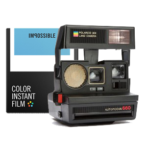 Refurbished 1980s Style Polaroid™ 600 Camera Kit DeLuxe
