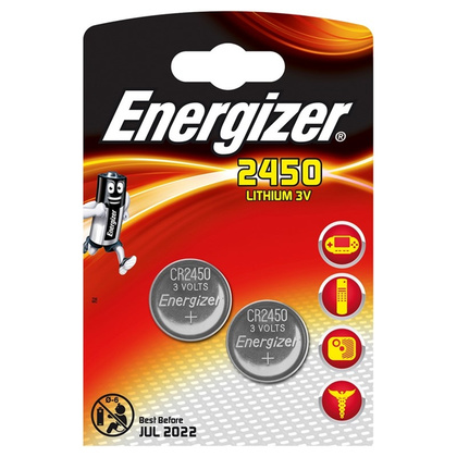 ENERGIZER Batteri CR2450 Lithium 2-pack