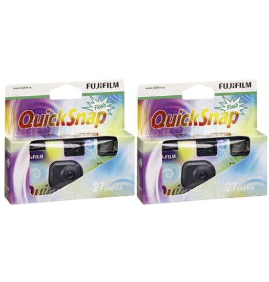 Fujifilm Quicksnap Blixt 27exp 2-pack