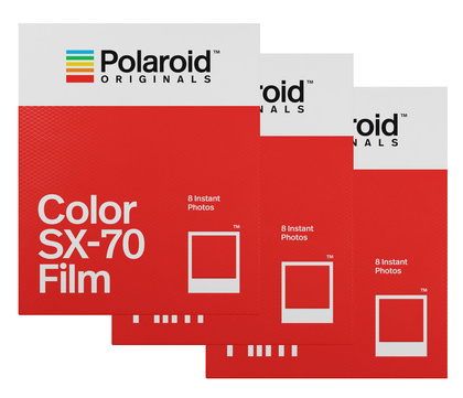 POLAROID ORIGINALS COLOR FILM FOR SX-70  3-pack