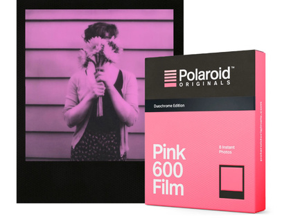 POLAROID ORIGINALS PINK FILM 600 BLACK FRAME - SLUTSÅLD!