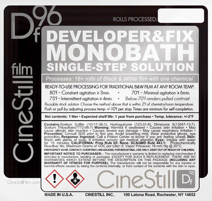 CINESTILL DF 96 Monobath Powder 1L