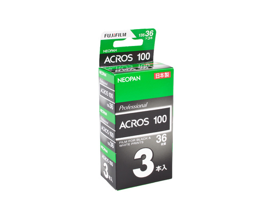 Fuji Neopan Acros 100 35mm 36 exposures 3-pack