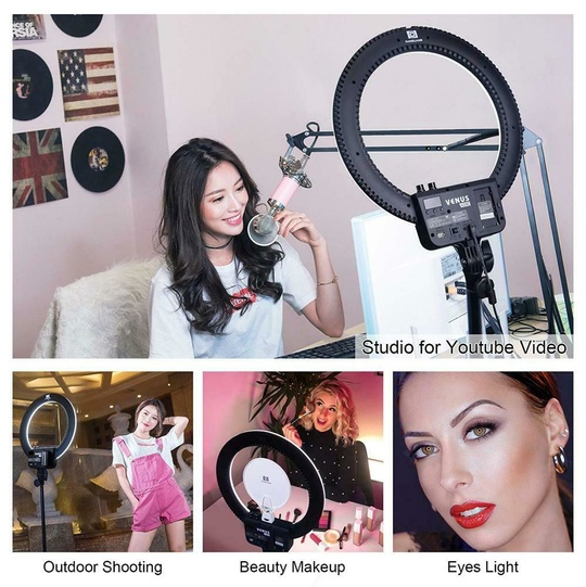NanLite Halo LED-ringbelysning - Halo18 LED Ring Light