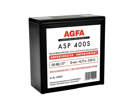 AGFA ASP 400S 35mm x 45.75m NP | unperforated on spool