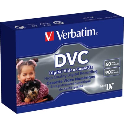 Verbatim mini DV kassetter, 1-pack, 60 min SP/90 min LP